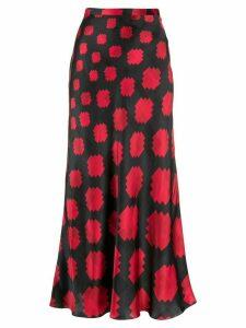Marni geometric print midi skirt - Blue