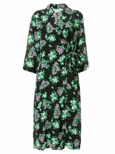 Bernadette floral print wrap dress - Black