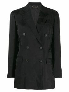Salvatore Ferragamo Peonie double-breasted jacquard blazer - Black