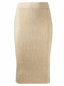 Pinko metallic pencil skirt - Gold
