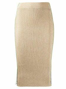 Pinko metallic pencil skirt - GOLD