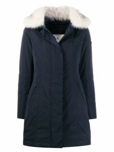 Peuterey zipped parka coat - Blue