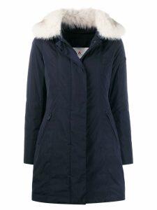 Peuterey zipped parka coat - Blue