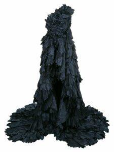 Oscar de la Renta ruffled high-low dress - Blue