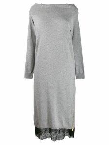 Twin-Set layer jumper dress - Grey