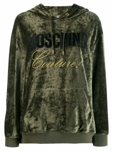 Moschino Couture! logo hoodie - Green