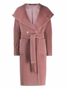 Tagliatore belted robe coat - Pink