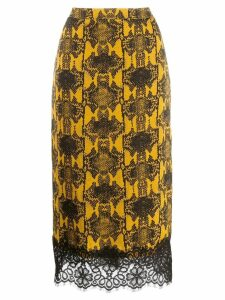 Essentiel Antwerp lace hem midi skirt - Yellow