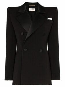 Saint Laurent tuxedo wool blazer - Black