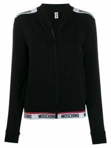 Moschino logo trim track jacket - Black