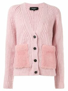 Rochas ribbed knit cardigan - Pink