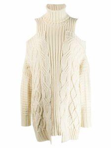 Monse oversized knit sweater - Neutrals