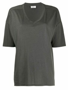 Closed short-sleeve flared T-Shirt - Green