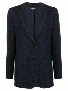 Giorgio Armani fine knit blazer - Blue