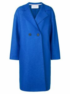Harris Wharf London oversized double-breasted coat - Blue