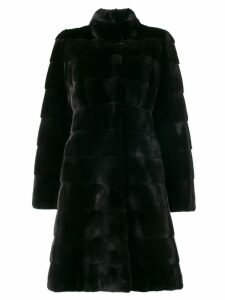 Liska fur mid-length coat - Black