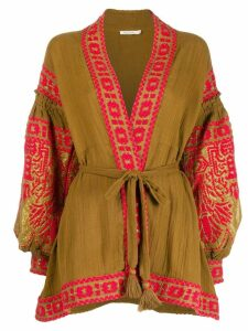 Mes Demoiselles embroidered jacket - Brown