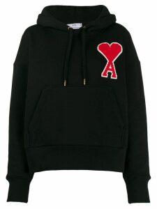 Ami Paris logo hooded sweatshirt - Black