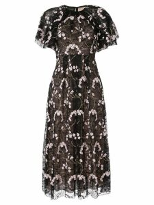Giambattista Valli floral embroidered midi dress - Black