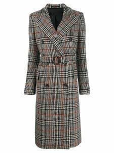Tagliatore Glen houndstooth check coat - Neutrals