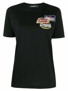 Dsquared2 logo embroidered T-shirt - Black