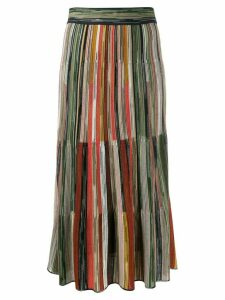 Missoni striped knitted skirt - Green