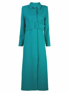 Rebecca De Ravenel single-breasted belted coat - Green