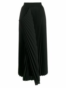 Maison Flaneur pleated midi skirt - Black