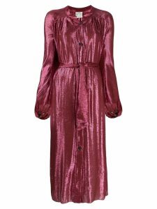 Forte Forte metallic shirt dress - Pink
