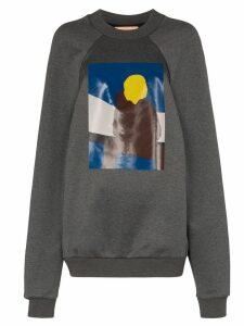 Plan C Boy print sweatshirt - Grey
