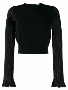 Alexander McQueen striped sleeve jumper - Black