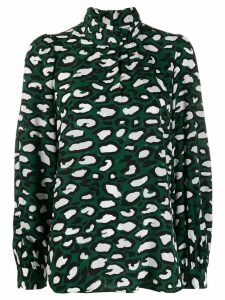 Essentiel Antwerp printed silk blouse - Green