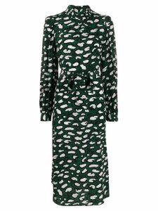 Essentiel Antwerp printed silk midi dress - Green