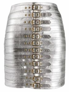 Manokhi buckled skirt - SILVER