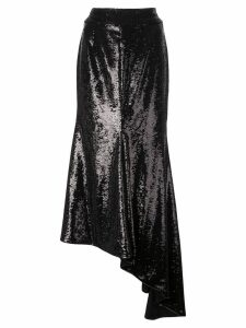 Alexandre Vauthier asymmetric sequin skirt - Black