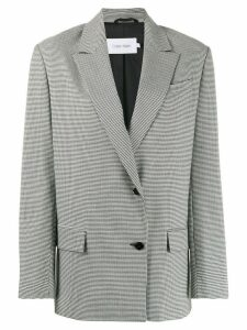 Calvin Klein houndstooth single-breasted blazer - Black