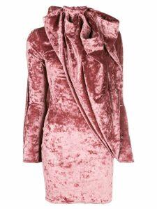 Y/Project asymmetric velvet dress - PINK
