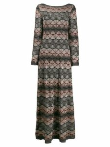 M Missoni zig zag patterned maxi dress - Grey