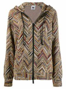 M Missoni jacquard hooded jacket - Gold