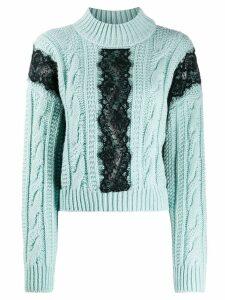 Brognano lace appliqué jumper - Blue