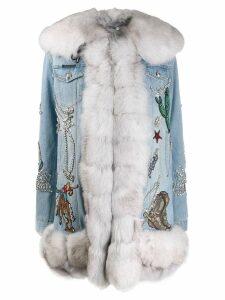 Philipp Plein denim cowboy coat - Blue