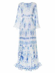 Ingie Paris floral print pleated dress - White