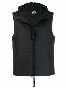 Y-3 hooded padded gilet - Black