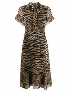 Michael Michael Kors tie-neck dress - Brown