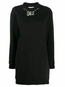 Gaelle Bonheur logo sweatshirt dress - Black