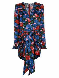 Magda Butrym floral print mini dress - Blue