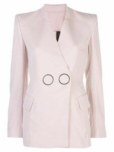Petar Petrov hoop detail wrap front blazer - Pink