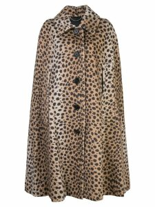Marc Jacobs leopard print cape - Neutrals