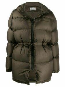 Acne Studios tie waist puffer jacket - Green