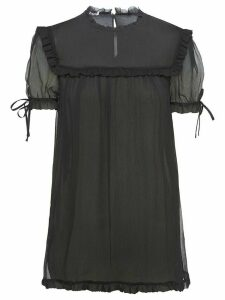 Miu Miu ruffle trim blouse - Black